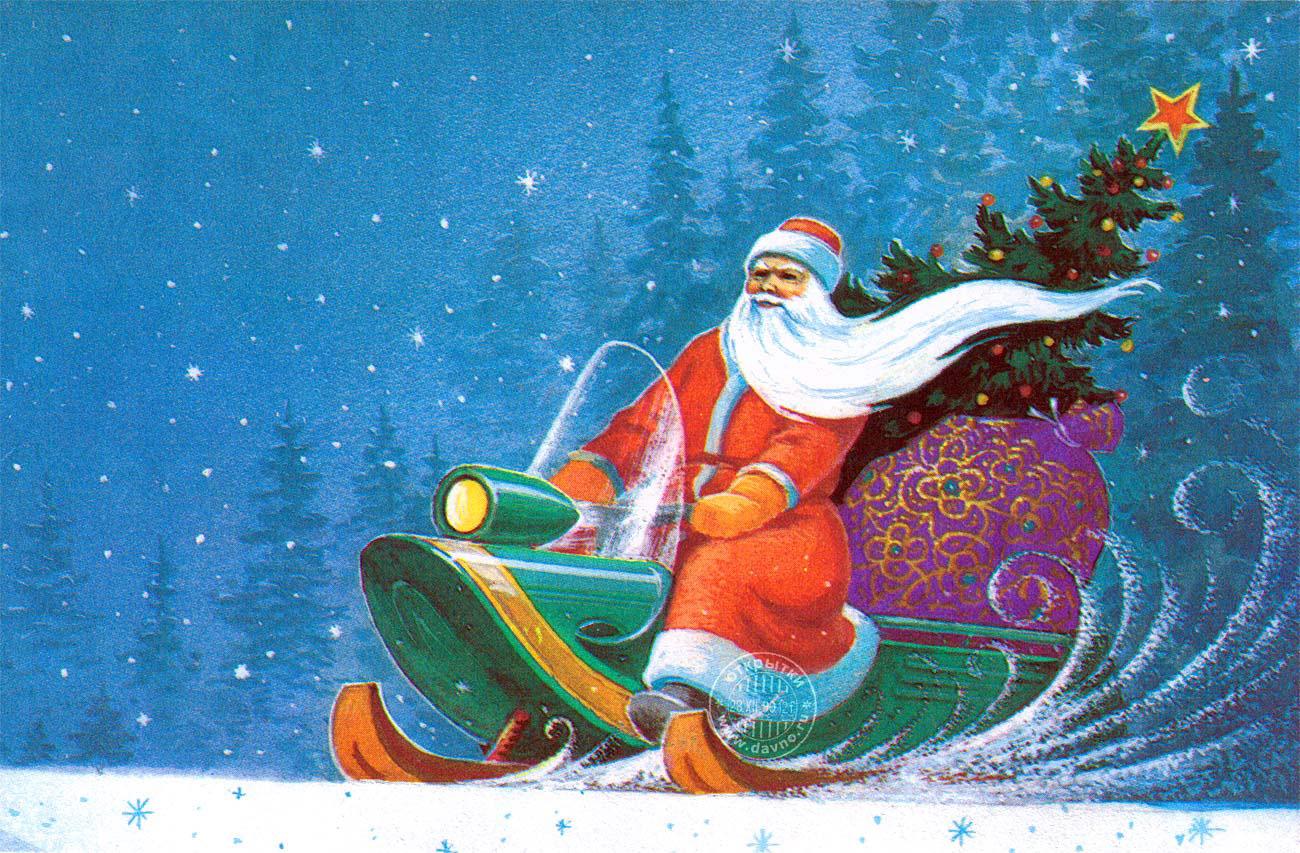 Дед мороз с телефоном открытка, картинки анимации